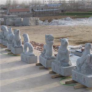 五莲花动物雕塑